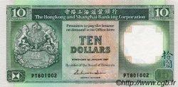 10 Dollars HONG KONG  1987 P.191a SPL