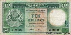 10 Dollars HONG KONG  1988 P.191b TB+