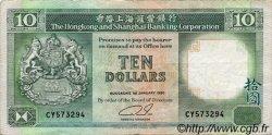 10 Dollars HONG KONG  1990 P.191c TTB