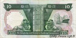 10 Dollars HONG KONG  1991 P.191c TTB