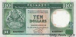 10 Dollars HONG KONG  1992 P.191c pr.NEUF