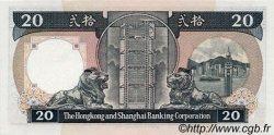 20 Dollars HONG KONG  1986 P.192a NEUF