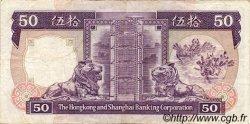 50 Dollars HONG KONG  1990 P.193c TTB