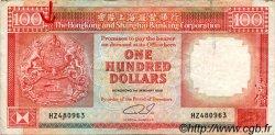 100 Dollars HONG KONG  1989 P.198a TB