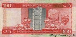 100 Dollars HONG KONG  1993 P.203a TTB