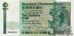 10 Dollars HONG KONG  1985 P.278a SUP