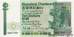 10 Dollars HONG KONG  1991 P.278d NEUF