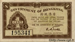 1 Cent HONG KONG  1941 P.313a TTB+