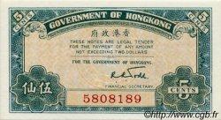 5 Cents HONG KONG  1941 P.314 NEUF