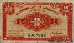 10 Cents HONG KONG  1941 P.315a TB