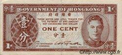 1 Cent HONG KONG  1945 P.321 TTB+