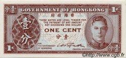 1 Cent HONG KONG  1945 P.321 NEUF