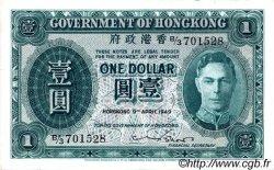 1 Dollar HONG KONG  1949 P.324a TTB+