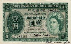 1 Dollar HONG KONG  1955 P.324Aa SUP