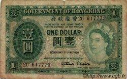1 Dollar HONG KONG  1956 P.324Ab B