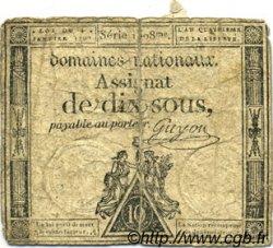 10 Sous FRANCE  1792 Laf.148 B