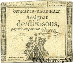 10 Sous FRANCE  1792 Laf.148 TB