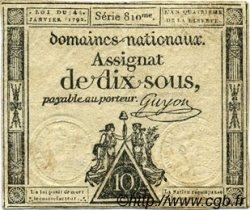 10 Sous FRANCE  1792 Laf.148 TTB