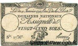 25 Sols FRANCE  1792 Muz.30 TTB