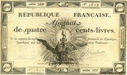 400 Livres FRANCE  1792 Laf.163 TTB