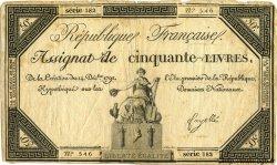 50 Livres FRANCE  1792 Laf.164 pr.TB