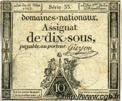 10 Sous FRANCE  1793 Laf.165a TTB