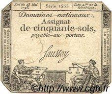 50 Sols FRANCE  1793 Laf.167 TB