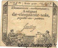 50 Sols FRANCE  1793 Ass.26a SUP