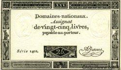 25 Livres FRANCE  1793 Laf.168 pr.NEUF