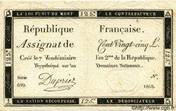 125 Livres FRANCE  1793 Laf.169 SUP