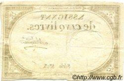 5 Livres FRANCE  1793 Muz.39 SUP à SPL