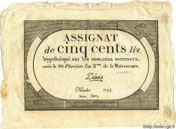 500 Livres FRANCE  1794 Laf.172 TTB+