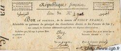20 Francs FRANCE  1798 Laf.212 SPL