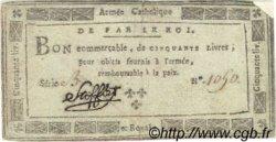 50 Livres FRANCE  1794 Laf.276 TB