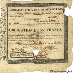 500 Francs FRANCE  1805 Laf.--- B+