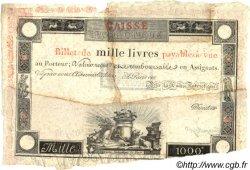 1000 Livres FRANCE  1795 Laf.--- TB