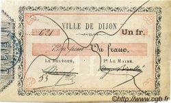 1 Franc FRANCE régionalisme et divers DIJON 1870 JER.21.03H TTB