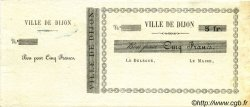 5 Francs FRANCE régionalisme et divers Dijon 1870 JER.21.03A SUP