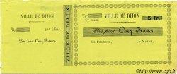 5 Francs FRANCE régionalisme et divers Dijon 1870 JER.2103C SUP