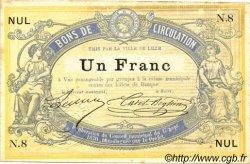 1 Franc FRANCE régionalisme et divers Lille 1870 JER.59.40A SUP