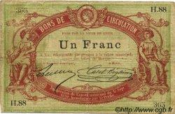 1 Franc FRANCE régionalisme et divers LILLE 1870 JER.59.40D TB