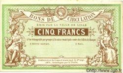 5 Francs FRANCE régionalisme et divers  1870 BPM.069.38 SUP