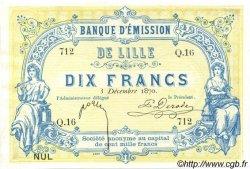 10 Francs FRANCE régionalisme et divers  1870 BPM.070.39 pr.NEUF