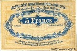 5 Francs FRANCE régionalisme et divers Lille 1870 JER.59.42A TTB