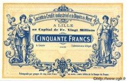 50 Francs FRANCE régionalisme et divers  1870 BPM.070.40 NEUF