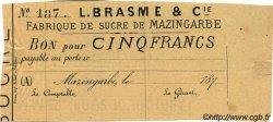 5 Francs FRANCE régionalisme et divers Mazingarbe 1870 JER.62.20B TTB