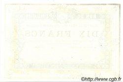 10 Francs FRANCE régionalisme et divers  1870 JER.62.26C NEUF