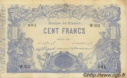 100 Francs 1862, indices noirs FRANCE  1871 F.A39.07 pr.SUP