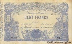 100 Francs 1862, indices noirs FRANCE  1871 F.A39.07 pr.SUP