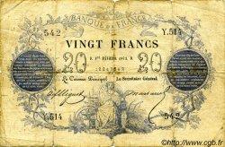 20 Francs 1871 FRANCE  1871 F.A46.03 B